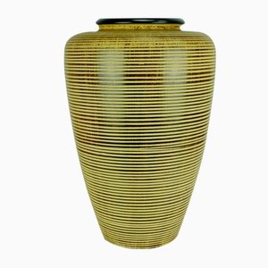 Post-Bauhaus or Art Deco 254/38 Vase with Grooved Decor by Dümler & Breiden