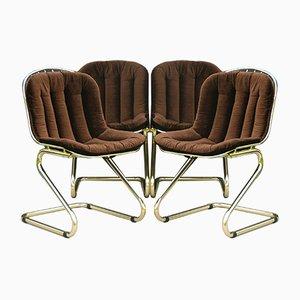 Italian Dining Chairs by Gastone Rinaldi, Set of 4