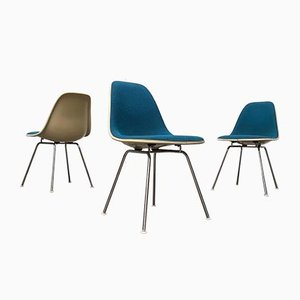Mid-Century Fiberglass Side Chairs by Charles & Ray Eames for Herman Miller, Set of 3