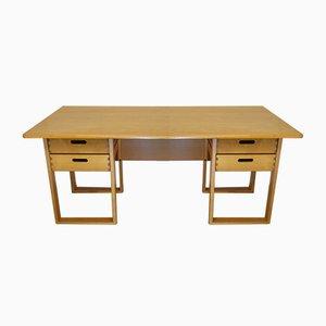 Vintage Architect's Desk in Light Wood, 1970s