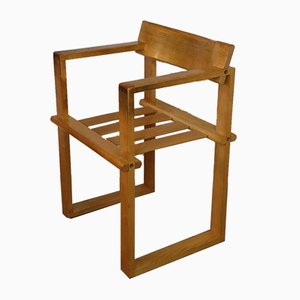 Vintage Architect's Chair in Light Wood, 1970s