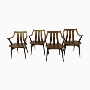 Teak & Schichtholz Esszimmerstühle von Pastoe, 1960er, 4er Set