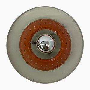 Orange Space Age Deckenlampe von Dijkstra, 1970er