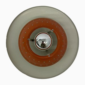 Space Age Orange Ceiling Lamp from Dijkstra, 1970s