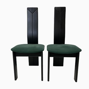 Postmoderne Esszimmerstühle, 1980er, 2er Set