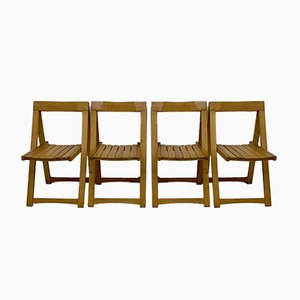 Folding Chairs by Aldo Jacober for Alberto Bazzani, 1960s, Set of 4