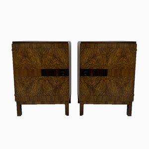 Tables de Chevet Art Déco, 1930s, Set de 2