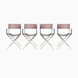 Chairs by Angolo Metal Arte, 1970s, Set of 4