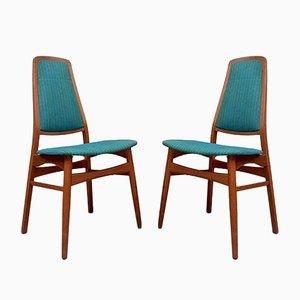 Mid-Century Teak Danish Dining Fireside Chairs, Set of 2