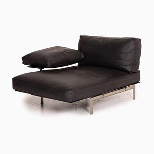 Diesis Leather Black Sofa by Antonio Citterio