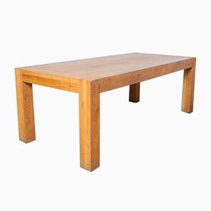 Solid Oak Table by Henk Vos Linteloo Vnu