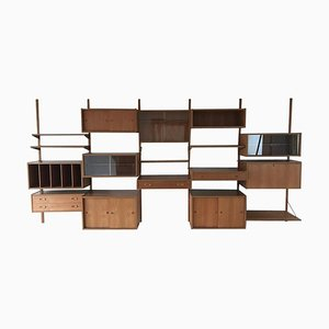 Large Cado Royal System Wall Unit Shelving Bookcase by Poul Cadovius, 1960s