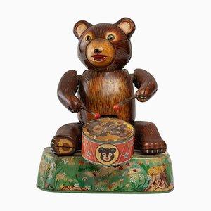 Tin Toy Bear with Tambourine
