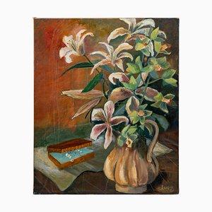 Blumenstrauß, 20. Jahrhundert, Öl auf Leinwand