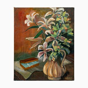 Bouquet of Flowers, 20th Century, Oil on Canvas
