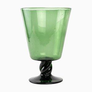 Grüne Kristallvase, 20. Jahrhundert