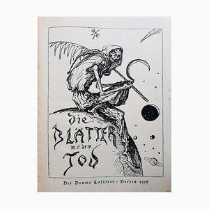 The Leaves With Death, Gravure Livre par Alfred Kubin, 1918