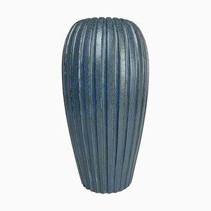 Blue Floor Vase by Vicke Lindstrand, 1950s, Sweden