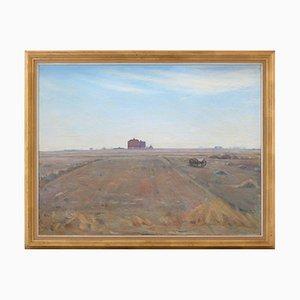Peter Marius Sand Holm, Paysage de Printemps avec Ferme