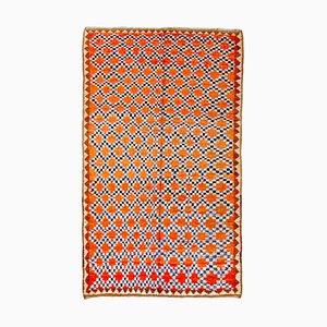 20th Century Orange Geometric Moroccan Berber