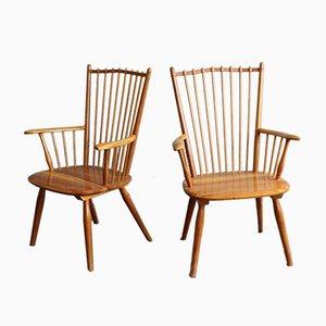 Mid-Century Sessel von Albert Haberer für Hermann Fleiner, 1950er, 2er Set