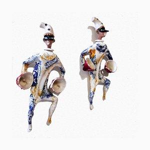 Commedia Dell'Arte Character Figurines, Cà d'Oro, Set of 2