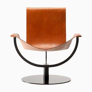 Chaise Arch en Cuir Cognac par Martin Hirth pour Favius