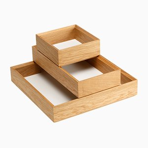 Tidy Tray Set in White by Christian Stoffel for Favius