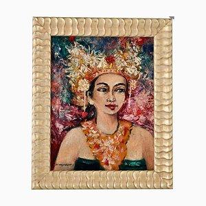 Portrait einer balinesischen Frau, Gemälde von Dr. R. M Moerdowo