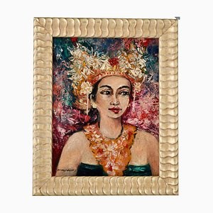 Portrait of a Balinese Woman, Painting by Dr. R. M Moerdowo