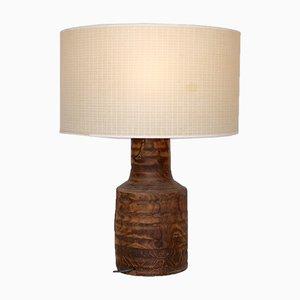 Vintage Brutalist Wooden Table Lamp, 1970s