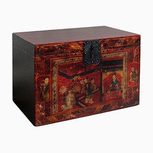 Coffre Opéra Shanxi Peint en Rouge