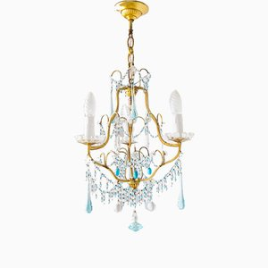 Chandelier with Blue Crystals