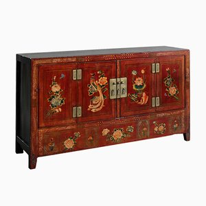 Antique Painted Dongbei Sideboard