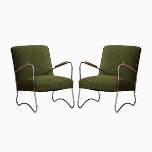 Armlehnstühle im Bauhaus Stil von Wschód Zadziel, 1950er, 2er Set