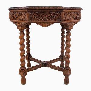 Geschnitzter Tisch, Frankreich, 1910er