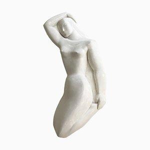 Modernist Art Deco Nude Sculpture in Plaster