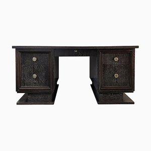 Art Deco Schreibtisch aus gekalkter Eiche