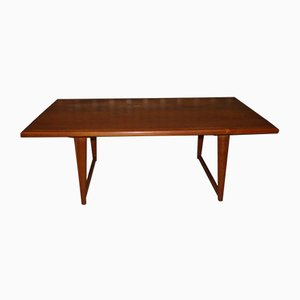 Oiled Solid Teak Coffee Table, 1960s