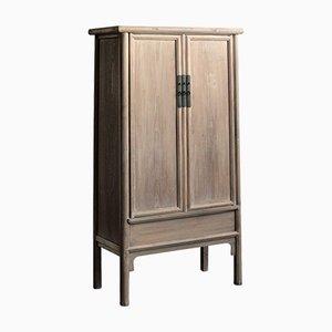 Big Tapered Natural Elm Cabinet