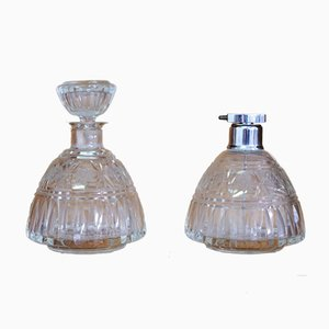 Glas Parfumhalter, 1950er, 2er Set