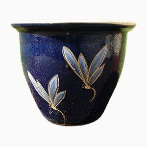 Großer böhmischer Übertopf aus Keramik