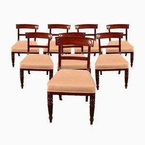 Stühle aus Mahagoni, Frühes 19. Jh., 8er Set