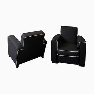 Art Deco Club Armchairs, Set of 2