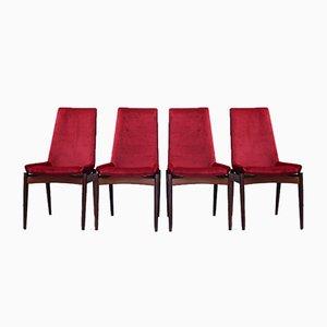 Palisander Esszimmerstühle von Robert Heritage für Archie Shine, 1950er, 6er Set