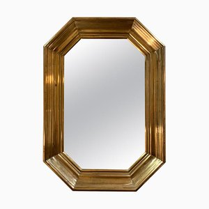 Mid-Century Brass Mirror, 1950s