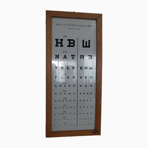 Eye Test Print from PAM, 1970s