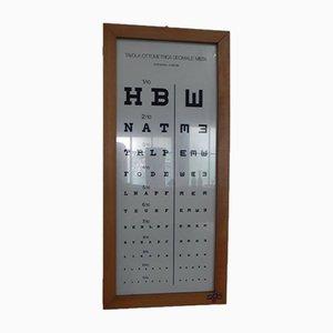 Imprimé Test d'Oeil de PAM, 1970s
