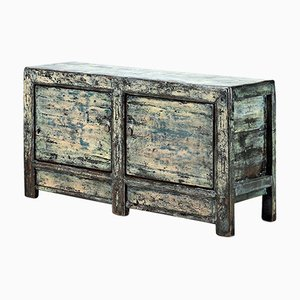 Blue Crackled Lacquer Sideboard