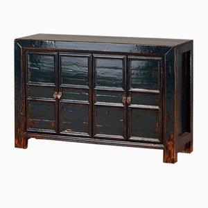 Dark Blue Panelled Cabinet